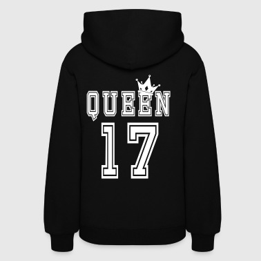 King And Queen Valentine's Day Matching Couples Queen Jersey  - Women's Hoodie