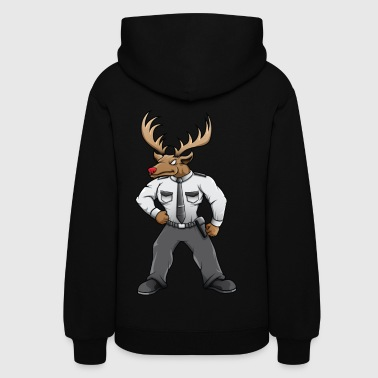 Security deer with red nose - Women's Hoodie