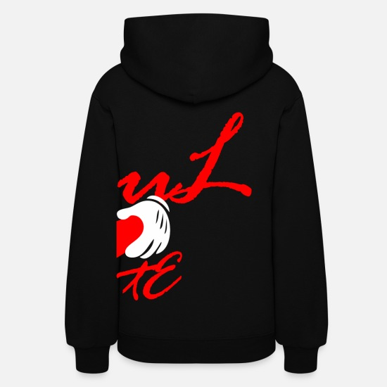 Couples Hoodies & Sweatshirts - SOULMATE - RIGHT - Women's Hoodie black