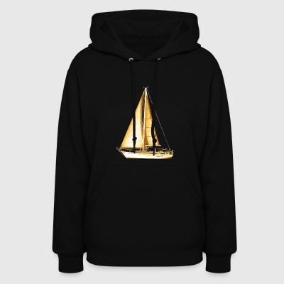 Golden Sailboat - Women's Hoodie
