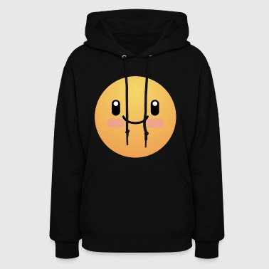 Smiling face cute present for him or her - Women's Hoodie