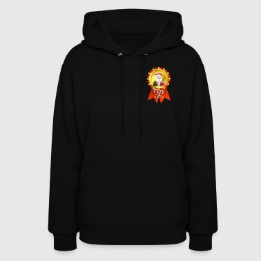 Father Christmas  Rosette - Women's Hoodie