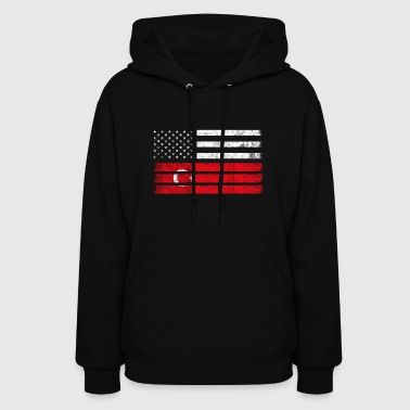 Turk American Flag - USA Turkey Shirt - Women's Hoodie