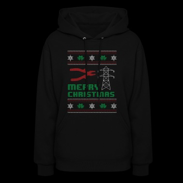 Funny Electrician Shirt Merry Christmas - Women's Hoodie
