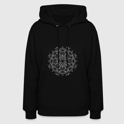 Mandala Mantra Illustration Tattoo Hipster Mantra - Women's Hoodie