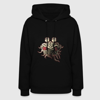 Scheming Flying Spaghetti Monster - Women's Hoodie