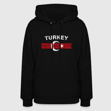 Turk Flag Shirt - Turk Emblem & Turkey Flag Shirt - Women's Hoodie