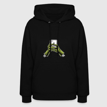 Zombie Phone. Smartphone for undead people. - Women's Hoodie