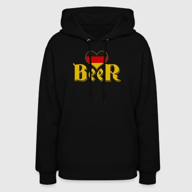 I Love Beer Bavarian Design - Women's Hoodie