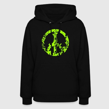 Jungle peace sign forest animals - Women's Hoodie