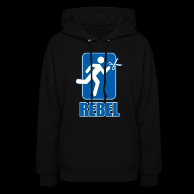 REBEL running with scissors Funny - Women's Hoodie