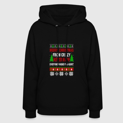 Merry Christmas From Crazy Mother In Law - Women's Hoodie
