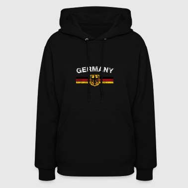 German Flag Shirt - German Emblem & Germany Flag S - Women's Hoodie