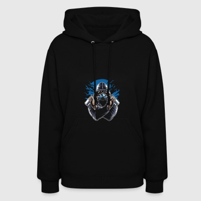 Graffiti Artist With Gasmask. Colors of the world! - Women's Hoodie