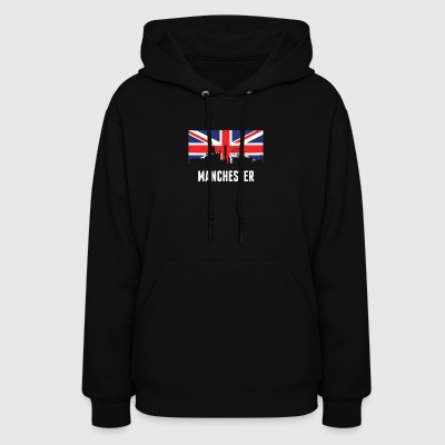 British Flag Manchester Skyline - Women's Hoodie