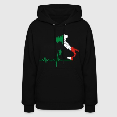 Heartbeat Italy gift - Women's Hoodie