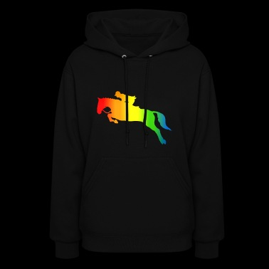 Colorful Riding Rainbow - Women's Hoodie