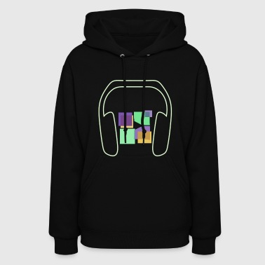 Women: Glow In The Dark Music To Me Is... Hoodie - Women's Hoodie