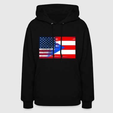 Puerto Rico American Flag Fusion - Women's Hoodie