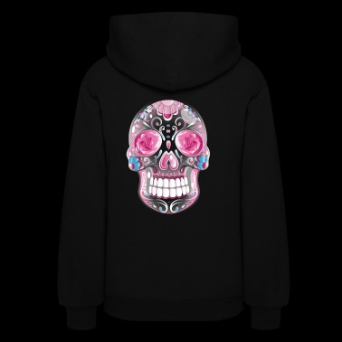 Traditional Mexican sugar skull, day of the dead. - Women's Hoodie