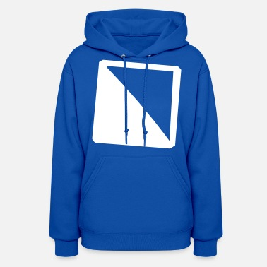 Diagonal Diagonally filled square - Women's Hoodie