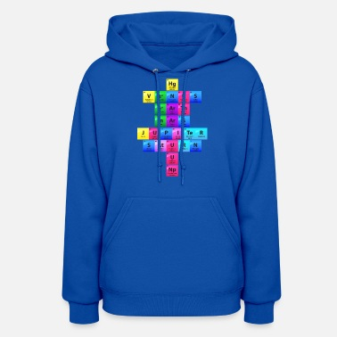 Solar System Periodic Table Of Elements Gift - Women's Hoodie