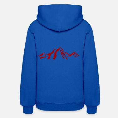 Scenery Mountain scenery / Mountains red - Women's Hoodie