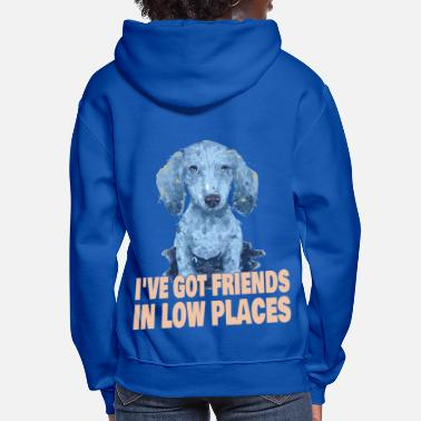 Dachshund Dackel I've Got Friends In Low Places - Funny Dachshund - Women's Hoodie