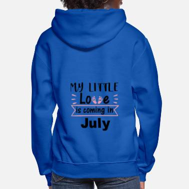 Date Childbirth is in July Pregnancy - Women's Hoodie
