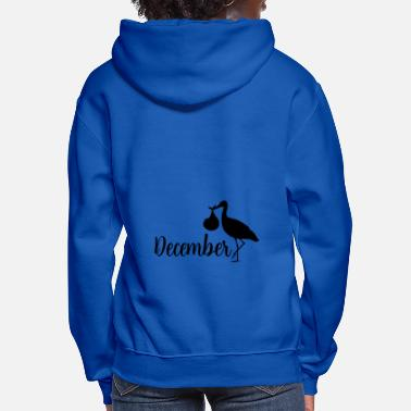 Feet pregnant stork baby coming December - Women's Hoodie