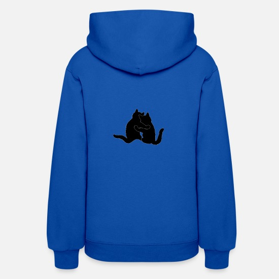 Cool Hoodies & Sweatshirts - Cat live - Women's Hoodie royal blue