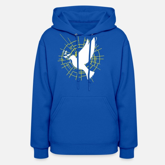 Religious Hoodies & Sweatshirts - Peace,Jesus, Christ, Cross, God, Church, - Women's Hoodie royal blue