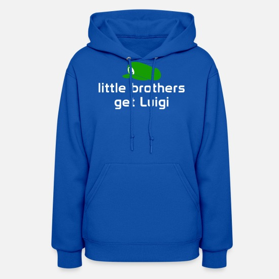 Movie Hoodies & Sweatshirts - Little Brothers Get Luigi - Women's Hoodie royal blue