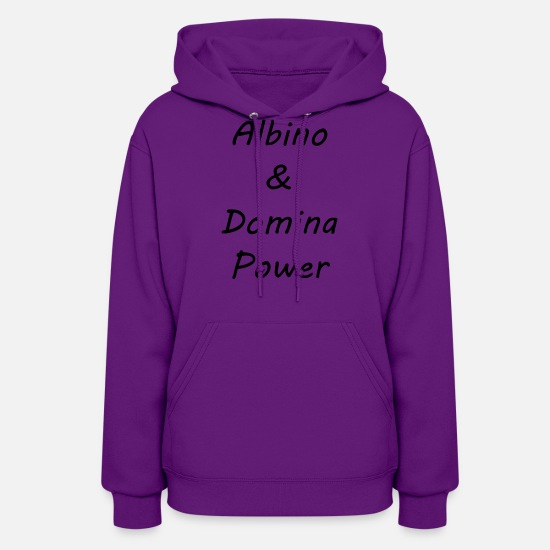 Albino Hoodies & Sweatshirts - Albino and Domina Power Black Vector - Women's Hoodie purple