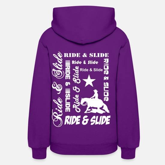 Riding Hoodies & Sweatshirts - Ride & Slide - Women's Hoodie purple