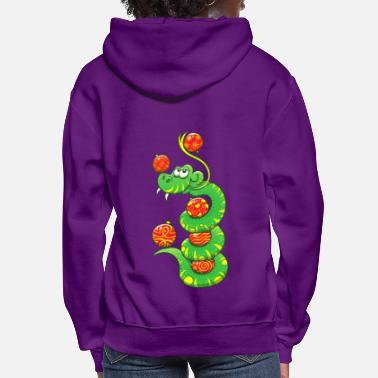 Ornament Christmas Snake - Women's Hoodie