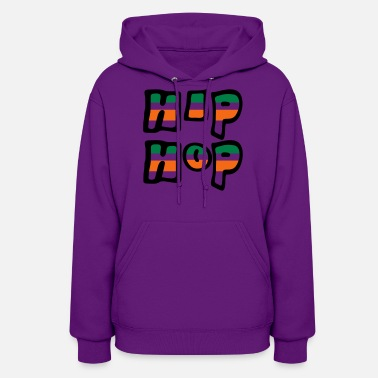 City &amp Hip Hop Grafitti Stripes - Women's Hoodie