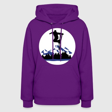 Ski and Mountains, skiing - Women's Hoodie