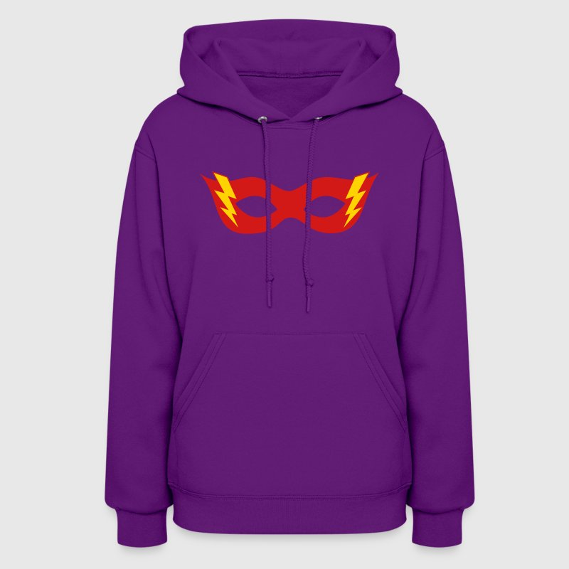Comic, Cartoon, Hero mask, Flash, Super Hero, Fun - Women's Hoodie