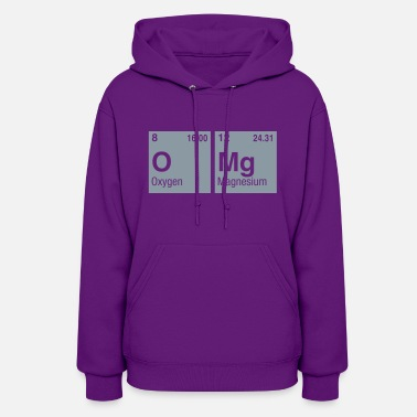 Elements Of The Periodic Table OMg written with Elements of the Periodic Table - Women's Hoodie
