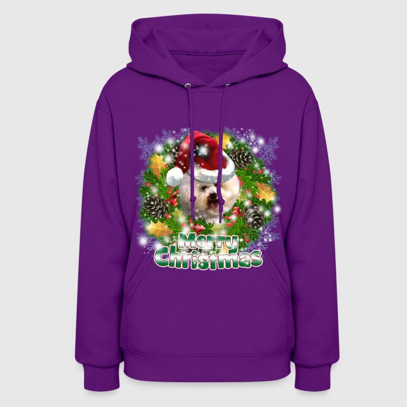Dog Lover Merry Christmas Bichon Frise - Women's Hoodie