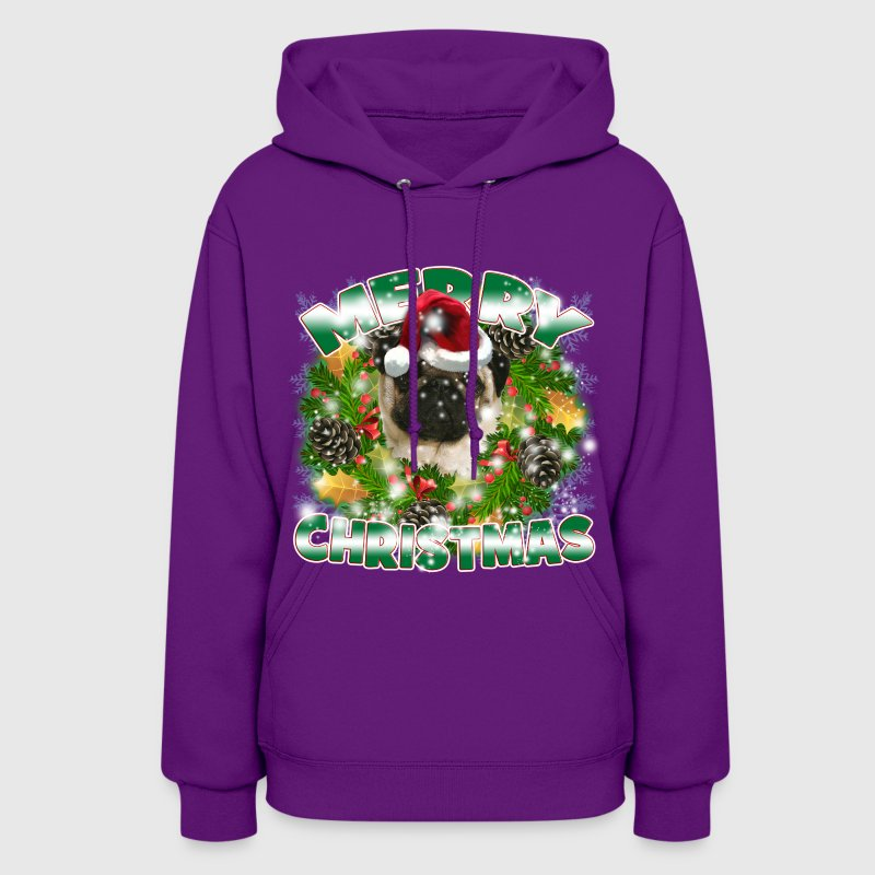 Dog Lover Merry Christmas Pug - Women's Hoodie