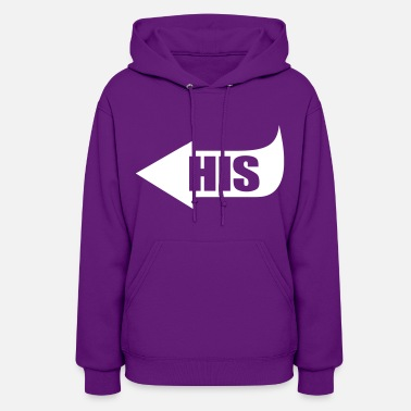 Pointing Left His Pointing Left - Women's Hoodie