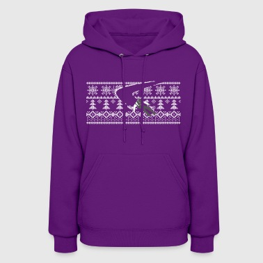 skiing through pattern - Women's Hoodie
