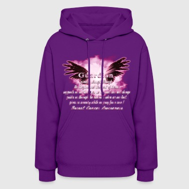 Guardian Angel serenity prayer Breast Cancer Aware - Women's Hoodie