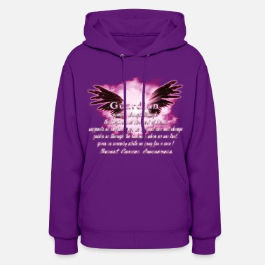 Angel Guardian Angel serenity prayer Breast Cancer Aware - Women's Hoodie