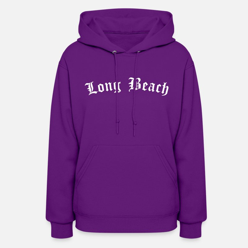 California Hoodies & Sweatshirts - Long Beach - Women's Hoodie purple