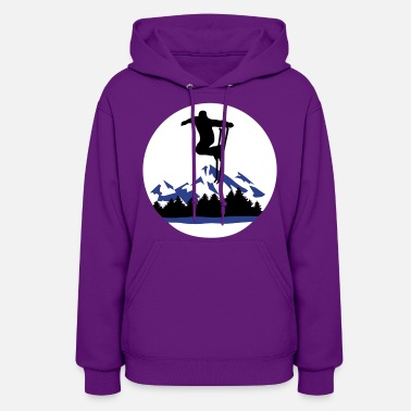 Sports Ski and Mountains, skiing - Women's Hoodie