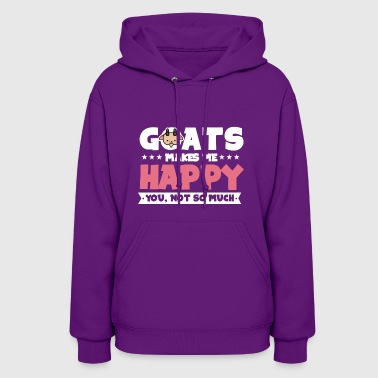 GOATS MAKE ME HAPPY - Women's Hoodie