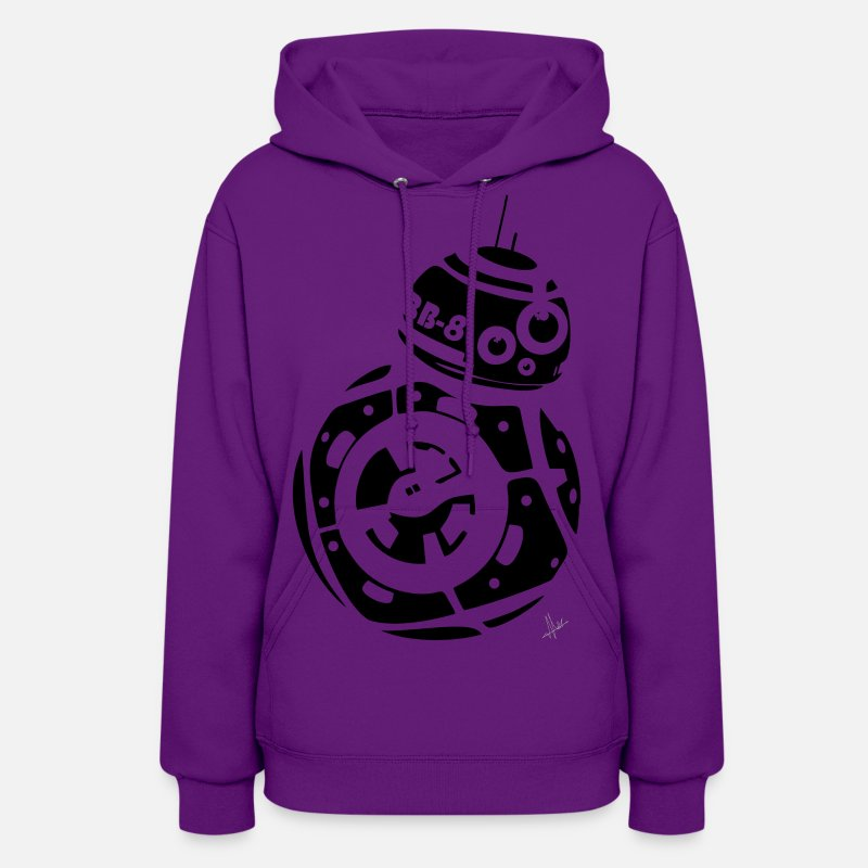 Starwars Hoodies & Sweatshirts - BB8 - Women's Hoodie purple